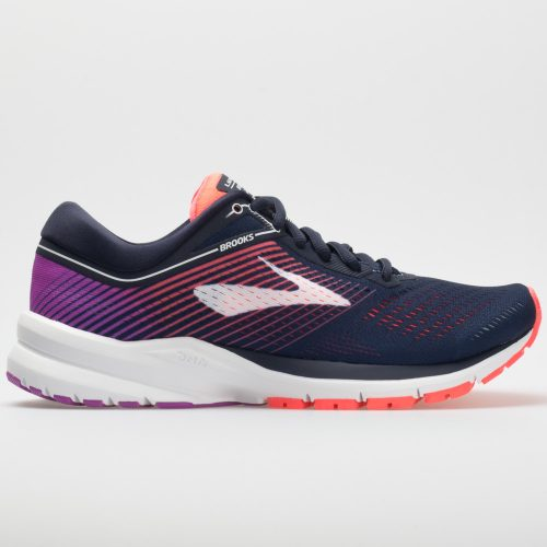 Brooks Launch 5: Brooks Women's Running Shoes Navy/Coral/Purple