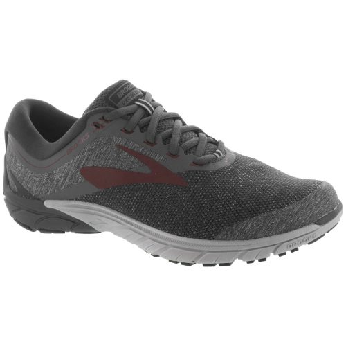 Brooks PureCadence 7: Brooks Men's Running Shoes Ebony/Dark Red/Black