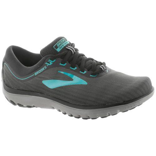 Brooks PureFlow 7: Brooks Women's Running Shoes Grey/Black/Green