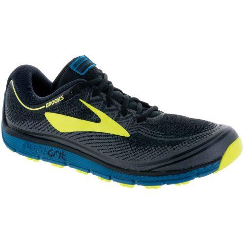 Brooks PureGrit 6: Brooks Men's Running Shoes Black/Turkish Tile/Nightlife