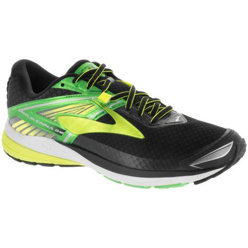 Brooks Ravenna 8: Brooks Men's Running Shoes Black/Classic Green/Nightlife
