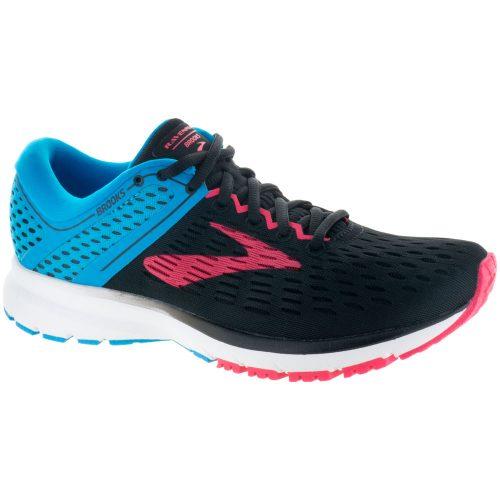 Brooks Ravenna 9: Brooks Women's Running Shoes Black/Blue/Pink