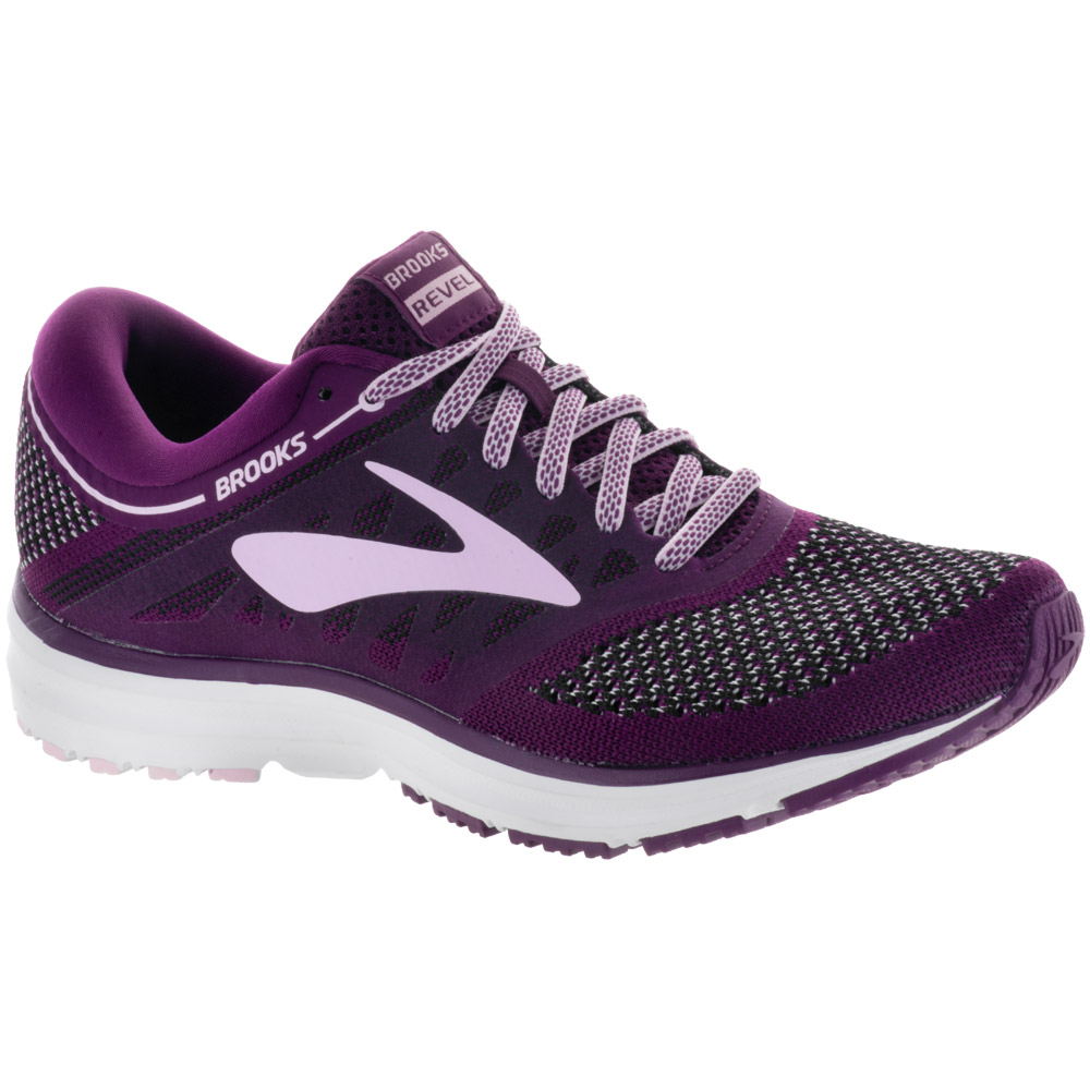 Brooks Revel: Brooks Women's Running Shoes Plum/Pink/Black