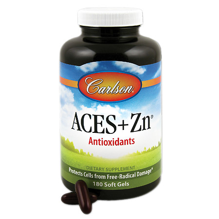 Carlson ACES + Zn Vitamins Multivitamin, Softgels - 180 ea