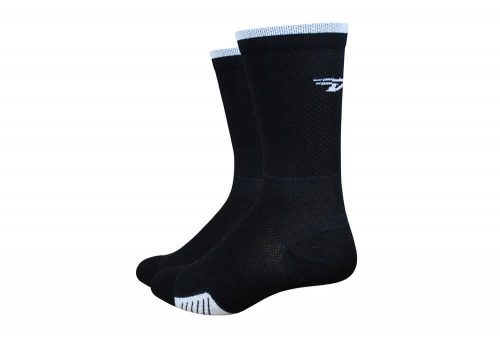 "DeFeet Cyclismo D-Logo 5"" Socks - black/white, x-large"