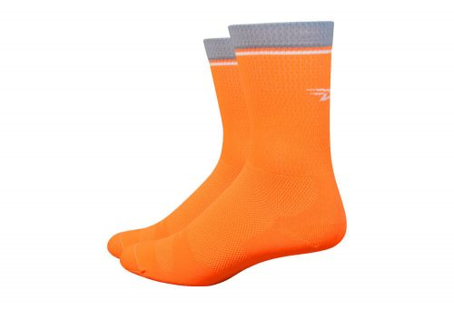 "DeFeet Levitator Lite 6"" Socks - hi vis orange, x-large"