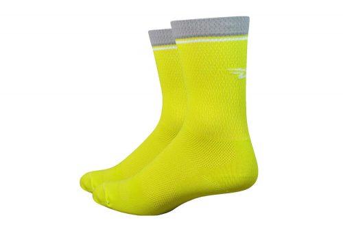 "DeFeet Levitator Lite 6"" Socks - sulphur yellow, small"