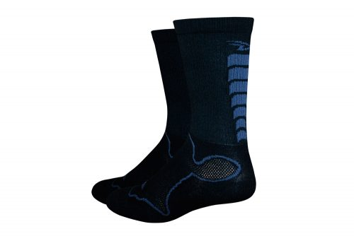 "DeFeet Levitator Trail 6"" Socks - black/graphite, medium"