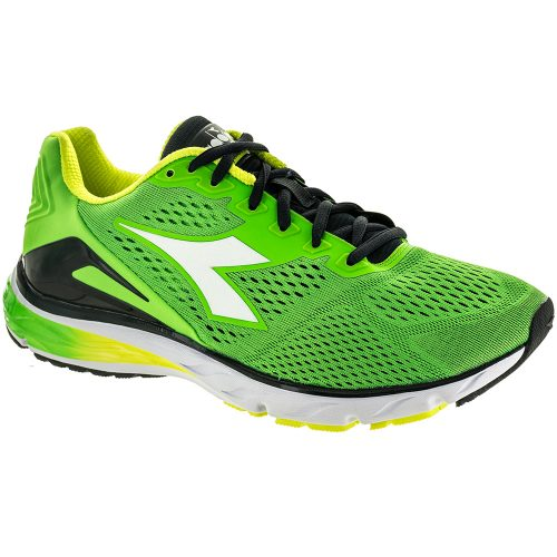 Diadora Mythos Blushield 2: Diadora Men's Running Shoes Green Fluo/White
