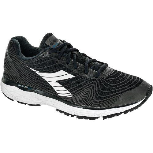Diadora Mythos Blushield Fly Hip: Diadora Men's Running Shoes Black/Black/White