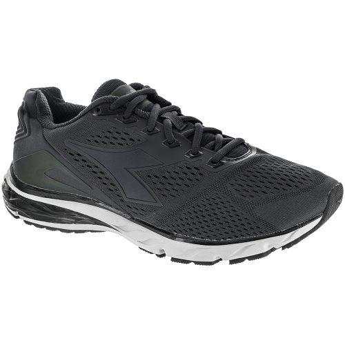 Diadora Mythos Blushield Hip 3: Diadora Men's Running Shoes Black/Black/Silver