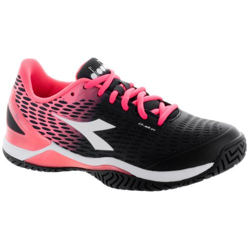 Diadora Speed Blushield 2 AG: Diadora Women's Tennis Shoes Black/Fluo Coral