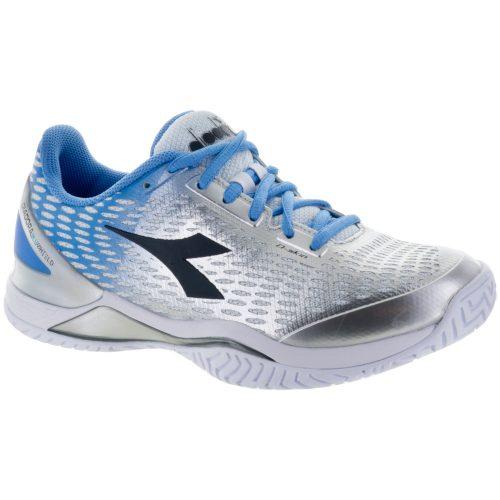 Diadora Speed Blushield 2 AG: Diadora Women's Tennis Shoes Silver/Flordaliso