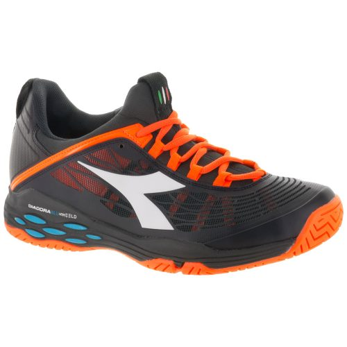 Diadora Speed Blushield Fly AG: Diadora Men's Tennis Shoes Black/Orange Vibrant
