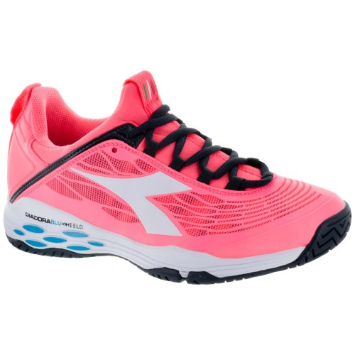 Diadora Speed Blushield Fly AG: Diadora Women's Tennis Shoes Fluo Coral/White