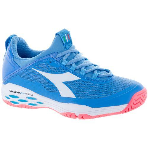 Diadora Speed Blushield Fly AG Womens's Iris Blue/Fluo Coral/White: Diadora Tennis Shoes