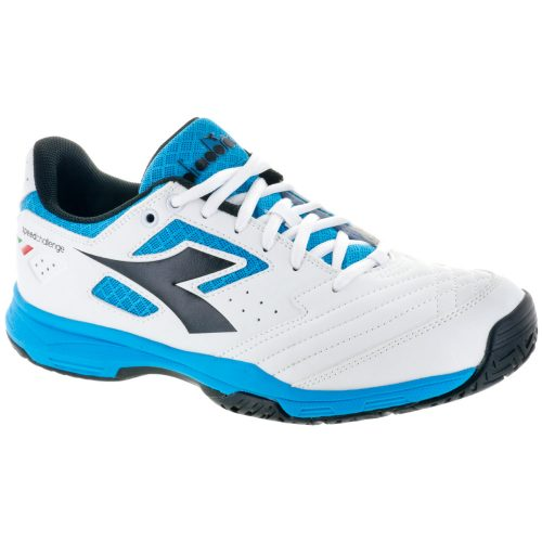 Diadora Speed Challenge 2 AG: Diadora Men's Tennis Shoes White/Black/Blue Fluo
