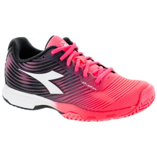 Diadora Speed Competition 4 AG: Diadora Women's Tennis Shoes Fluo Coral/White