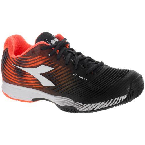 Diadora Speed Competition 4 Clay: Diadora Men's Tennis Shoes Orange/Black