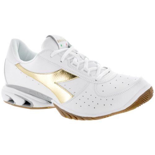 Diadora Speed Star K Elite AG: Diadora Men's Tennis Shoes White/Gold