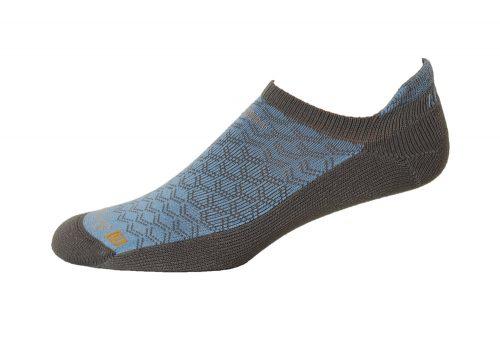 Drymax Running Lite-Mesh No Show Tab Socks - anthracite/ sky blue, large