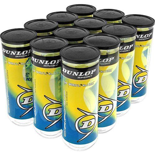 Dunlop Championship All Surface 12 Cans: Dunlop Tennis Balls