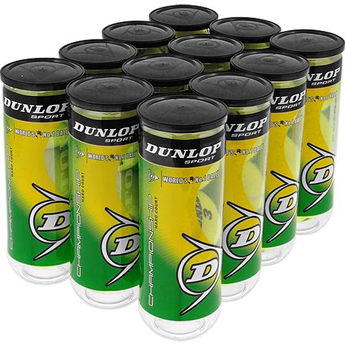 Dunlop Championship Hard Court 12 Cans: Dunlop Tennis Balls