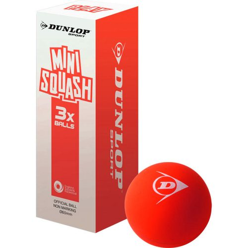 Dunlop Fun Mini Squash Ball Red 3pk: Dunlop Squash Balls