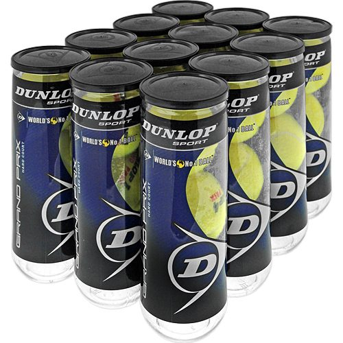 Dunlop Grand Prix Hard Court 12 Cans: Dunlop Tennis Balls
