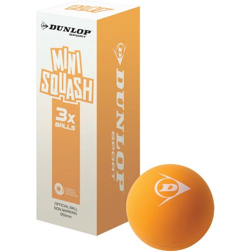 Dunlop Play Mini Squash Ball Orange 3Pk: Dunlop Squash Balls