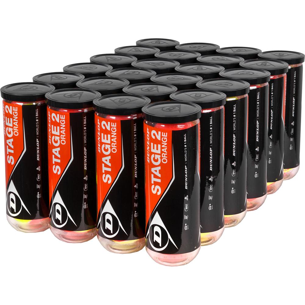 Dunlop Stage 2 Orange Training Ball 24 Cans: Dunlop Tennis Balls