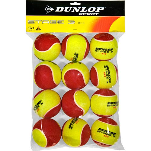 Dunlop Stage 3 Red 12 Pack: Dunlop Tennis Balls