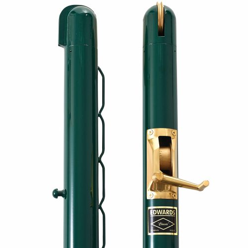 "Edwards 3"" Round 42"" High Posts Green: Edwards Court Equipt"