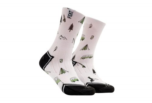 FEAT Camping Trips Socks - white, small