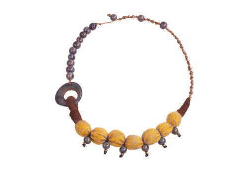 "Faire Collection Fabric Necklace - pollen, 18-20"""