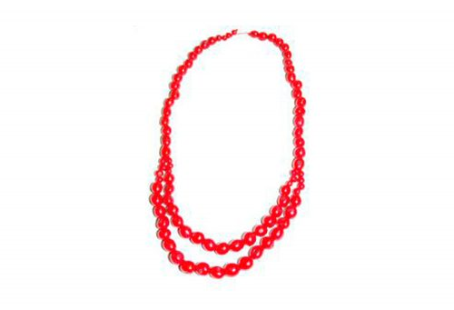 Faire Collection Pambil Canopy Necklace - hibiscus red, one size