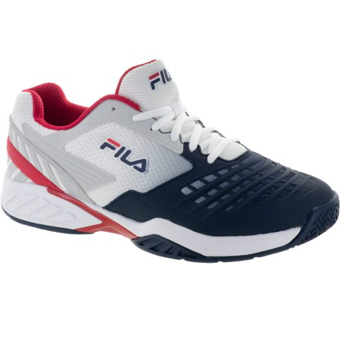 Fila Axilus Energized: Fila Men's Tennis Shoes White/Navy/Red