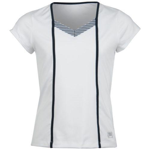 Fila Girl's Gingham Cap Sleeve Top: Fila Junior Tennis Apparel