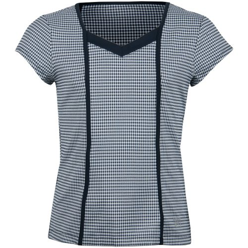 Fila Girl's Gingham Cap Sleeve Top: Fila Junior Tennis Apparel