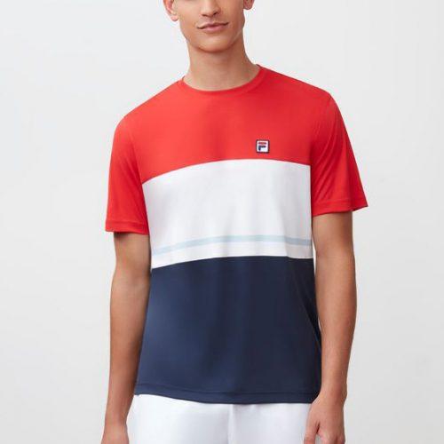 Fila Heritage Color Block Crew Summer 2018: Fila Men's Tennis Apparel