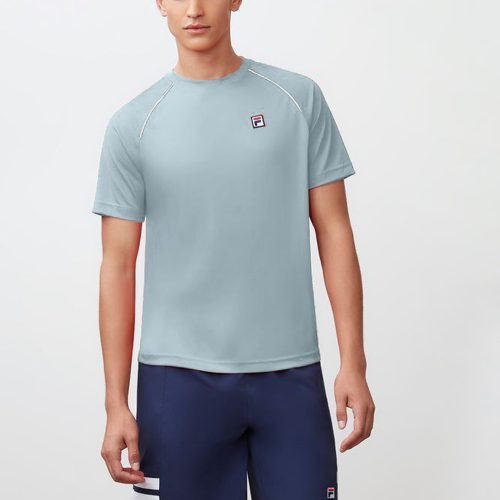 Fila Heritage Piped Raglan Crew Summer 2018: Fila Men's Tennis Apparel
