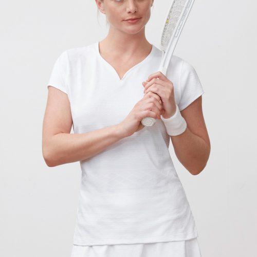 Fila Lawn Sweetheart Neck Top: Fila Women's Tennis Apparel