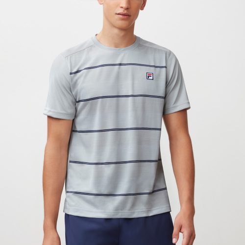 Fila Legend Space Dye Stripe Crew: Fila Men's Tennis Apparel