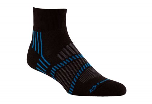 Fox River Lightweight 1/4 Crew Socks - black/blue astor, small