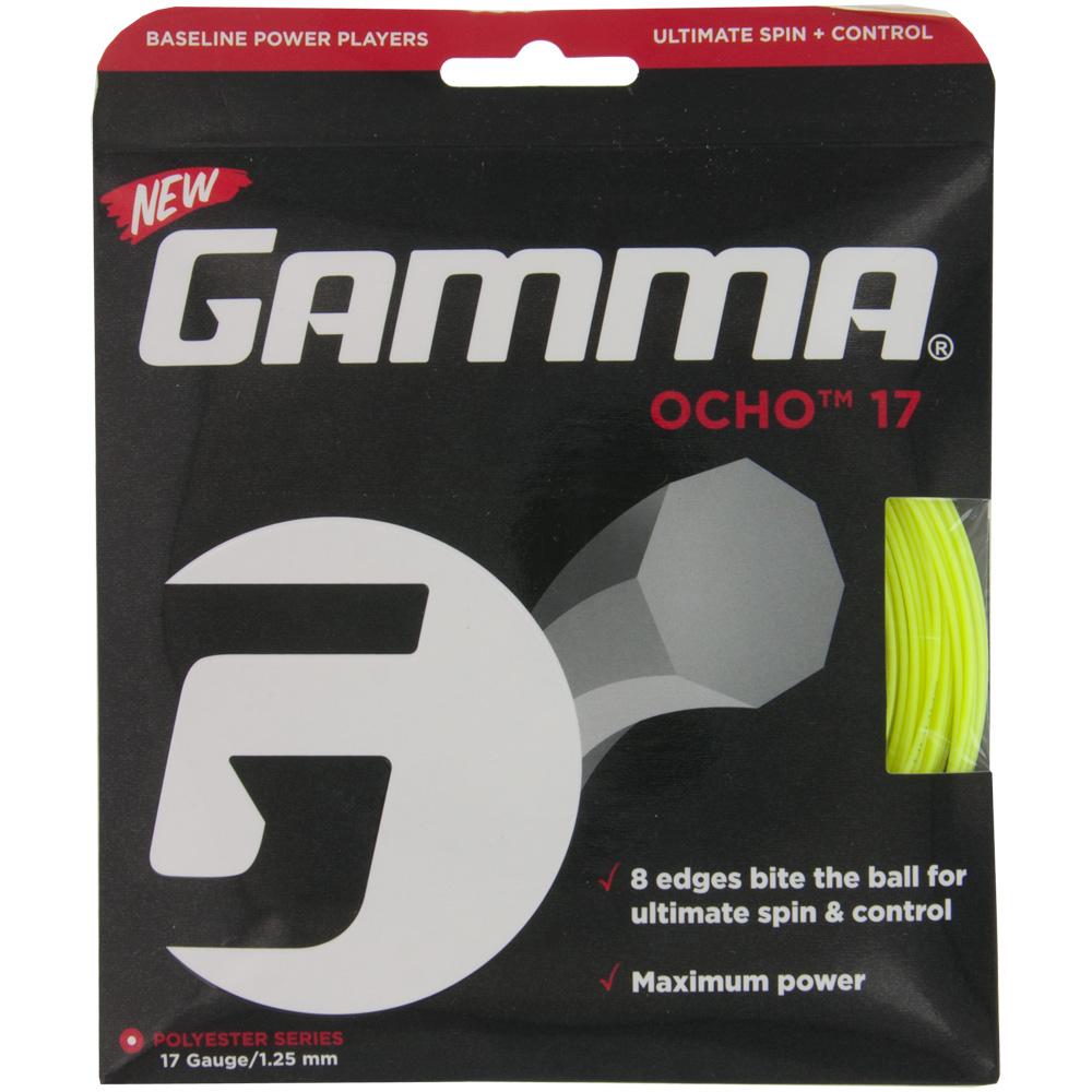 Gamma Ocho 17 1.25: Gamma Tennis String Packages