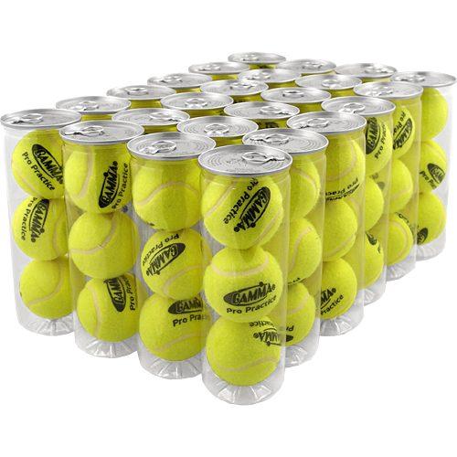 Gamma Pro Practice 24 Cans: Gamma Tennis Balls