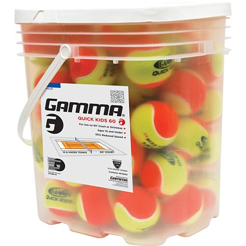Gamma Quick Kids 60 Bucket of 48: Gamma Tennis Balls