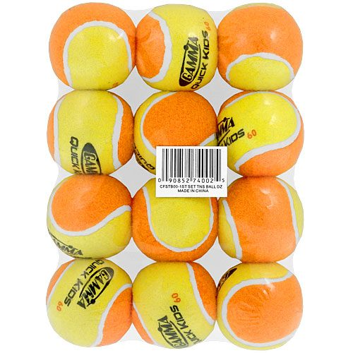 Gamma Quick Kids 60 Medium Bounce 12 Pack: Gamma Tennis Balls