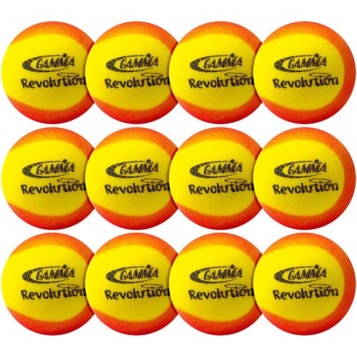 Gamma Revolution Foam 12 Pack: Gamma Tennis Balls