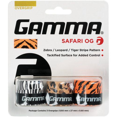 Gamma Safari Overgrip 3 Pack: Gamma Tennis Overgrips